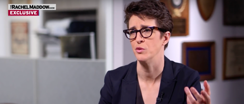 Rachel Maddow's MSNBC show hit a record high viewership number Wednesday. (Screenshot YouTube MSNBC, https://www.youtube.com/watch?v=0ORV6eE-sq0)