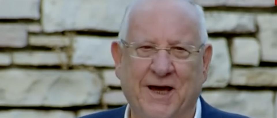 Screenshot of Israel's Reuven Rivlin speaking at a press conference (Screenshot/YouTube i24NEWS English)