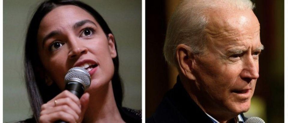 New York Democratic Rep. Alexandria Ocasio-Cortez, Former Vice President Joe Biden (Getty Images, Daily Caller)