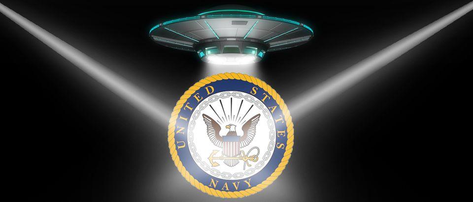 UFO, U.S. Navy Seal (Shutterstock, Daily Caller)