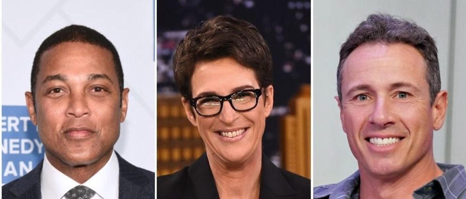 """CNN anchors are leading the """"Comfortably Smug"""" Twitter """"Liberal Hack"""" tournament. (Mike Pont/Getty Images for Robert F. Kennedy Human Rights, Theo Wargo/Getty Images for NBC, Cindy Ord/Getty Images for SiriusXM)"""