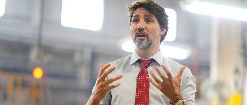 Canada's PM Trudeau visits auto parts company in Brampton