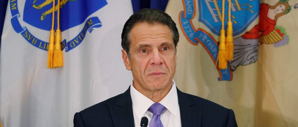 New York Governor Andrew M. Cuomo takes part in a regional cannabis and vaping summit in New York City, New York