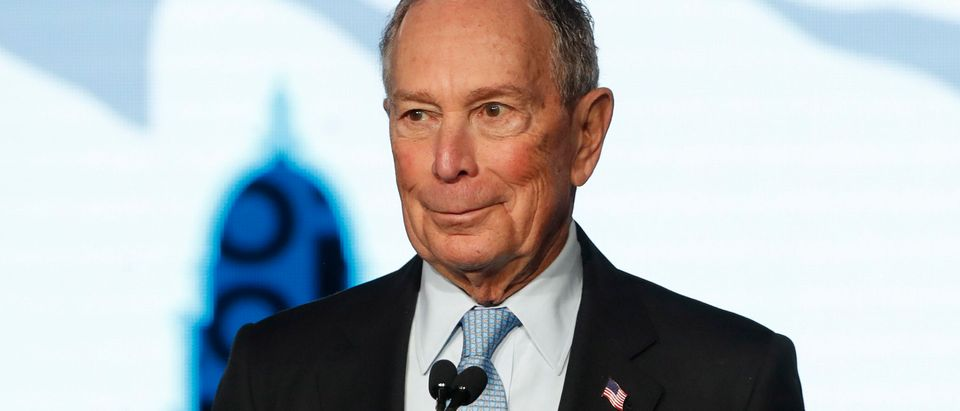 Democratic presidential candidate and former New York City Mayor Mike Bloomberg talks to supporters at a rally on Feb. 20, 2020 in Salt Lake City, Utah. (Photo by George Frey/Getty Images)