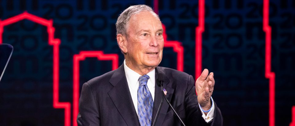 Democratic presidential candidate former New York City Mayor Mike Bloomberg delivers remarks during a campaign rally on February 12, 2020 in Nashville, Tennessee. (Brett Carlsen/Getty Images)