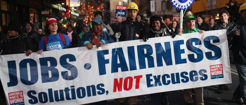 """Labor Groups Organize """"March For Jobs And Economic Fairness"""""""