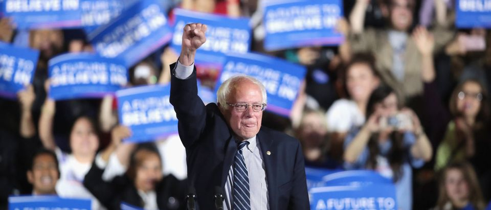 Bernie Sanders Holds Primary Night Rally In Los Angeles Area