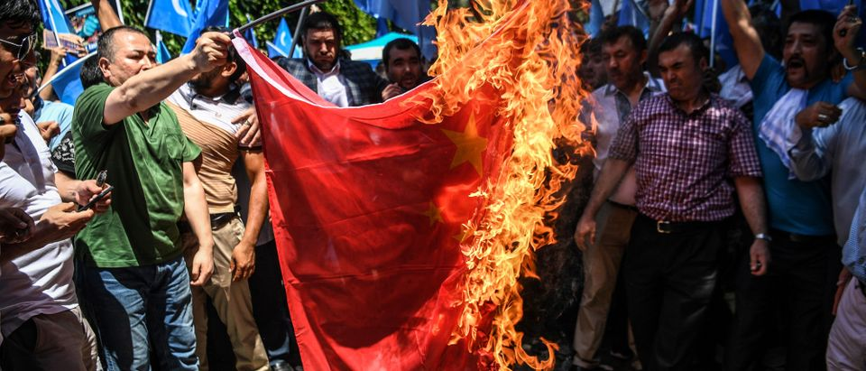 TOPSHOT-TURKEY-CHINA-UIGHUR-DEMO