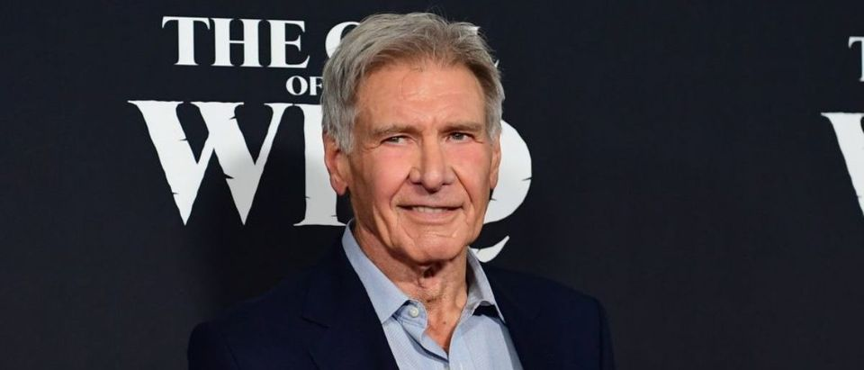 "US actor Harrison Ford arrives for Disney's ""The Call of the Wild"" premiere at El Capitan theatre in Hollywood, California on February 13, 2020. (Photo by FREDERIC J. BROWN/AFP via Getty Images)"