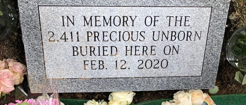 The Indiana attorney general held a funeral service Wednesday for the thousands of fetal remains that a prolific abortion doctor hoarded on his property. Photo courtesy of Theresa Olohan