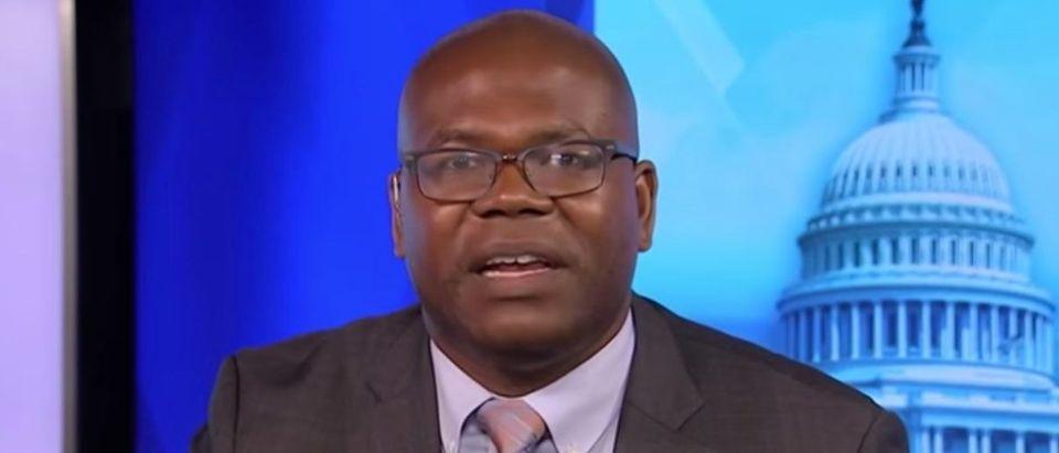 "Jason Johnson appears on MSNBC's ""AM Joy,"" July 2, 2018. (YouTube screen capture/MSNBC)"