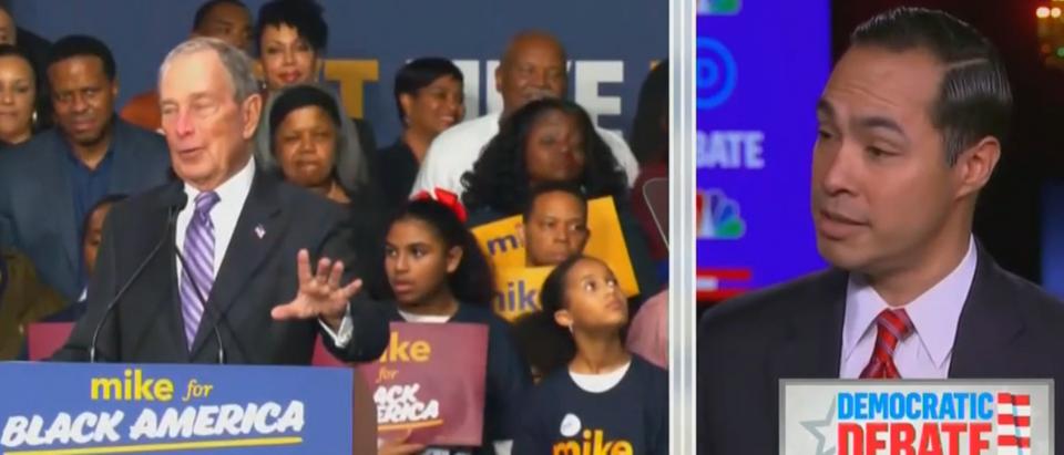 Julian Castro says Bloomberg is Trump's 'wet dream' (MSNBC screengrab)