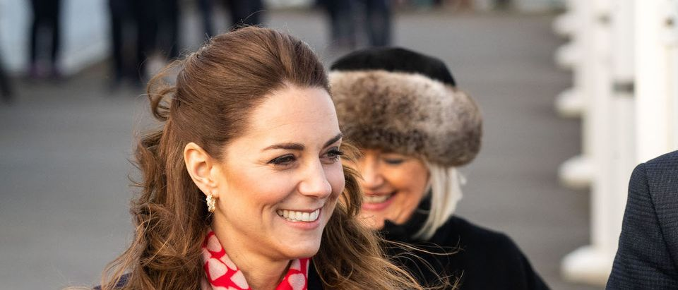 Catherine, Duchess of Cambridge arrives at the RNLI lifeboat station on Mumbles Pier on February 4, 2020 in Swansea, Wales. (Photo by Polly Thomas/Getty Images)