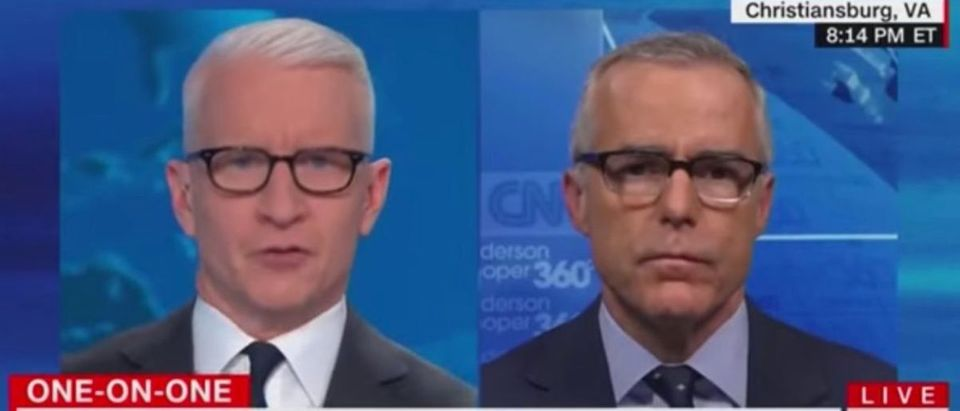 Andrew McCabe on CNN, Feb. 14, 2020. (YouTube screen capture/CNN)