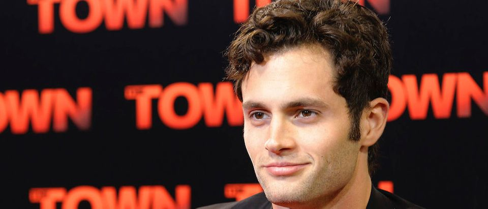 """Actor Penn Badgley arrives for the premiere of the movie """"The Town"""" at Fenway Park in Boston"""