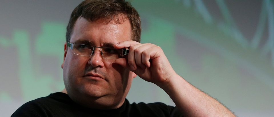 Linkedin Executive Chairman Reid Hoffman speaks during TechCrunch Disrupt SF 2012 in San Francisco