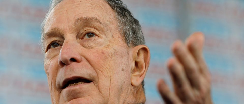 FILE PHOTO: Democratic presidential candidate Bloomberg at campaign event in Raleigh, North Carolina