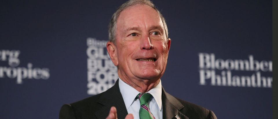 FILE PHOTO: Former New York City Mayor Michael Bloomberg speaks at the Bloomberg Global Business forum in New York