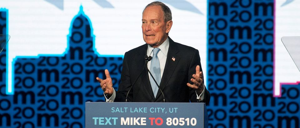 Democratic presidential candidate Mike Bloomberg holds a campaign rally in Salt Lake City, Utah, U.S., Feb. 20, 2020. REUTERS/Ed Kosmicki