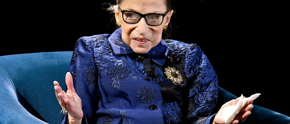 Justice Ruth Bader Ginsburg speaks at the Fourth Annual Berggruen Prize Gala in New York City on Dec. 16, 2019. in New York City. (Eugene Gologursky/Getty Images for Berggruen Institute)