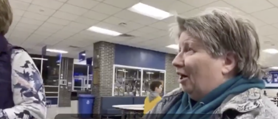 An Iowa Caucus voter appeared to demand her vote be given back after learning that Pete Buttigieg is gay. (Screenshot Twitter Annabel Park, @annabelpark)