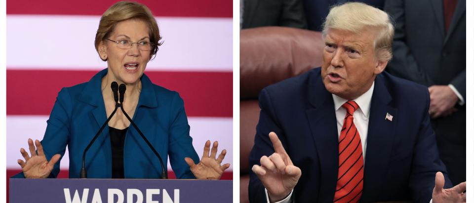 Elizabeth Warren, Donald Trump (Getty Images)