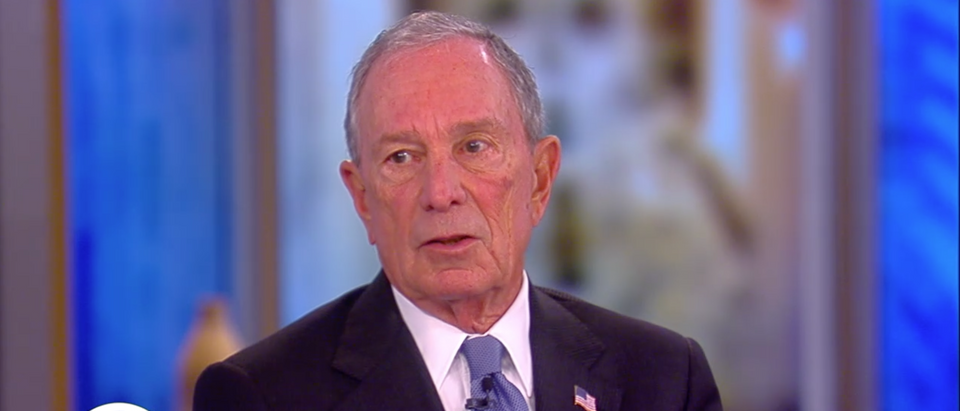 """Former New York City Mayor Mike Bloomberg said that America should """"get behind"""" Trump in 2017. (Screenshot ABC News, The View)"""