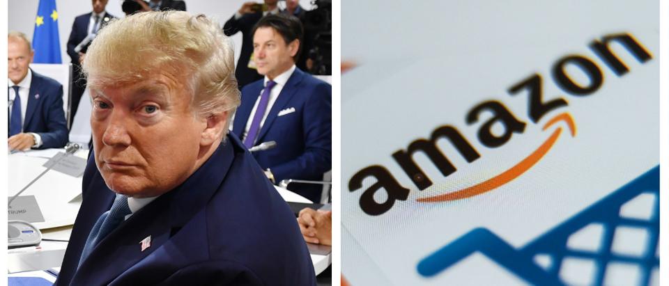 Donald Trump, Amazon Logo (Getty Images)