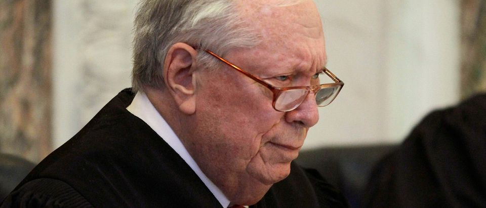 Judge Stephen Reinhardt listens to arguments before the 9th U.S. Circuit Court of Appeals on Dec. 6, 2010. (Reuters/Eric Risberg)
