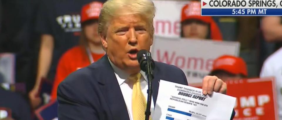 Trump name drops Matt Drudge at Colorado debate (Fox News screengrab)