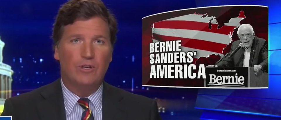 Tucker Carlson analysis Bernie Sanders's immigration plan (Fox News screengrab)