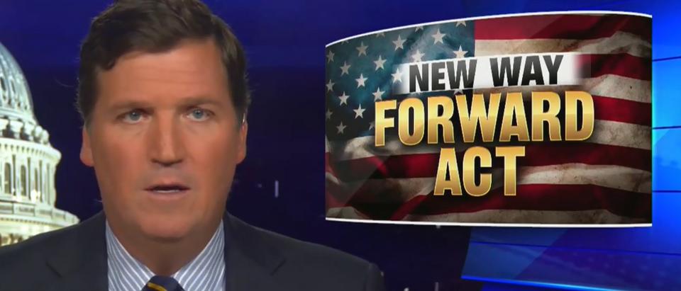 Tucker Carlson exposes the New Way Forward Act (Fox News screengrab)