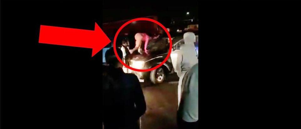 Woman Car Fight Video (Credit: Screenshot/Twitter Video https://twitter.com/bustedcoverage/status/1229396496816144385)