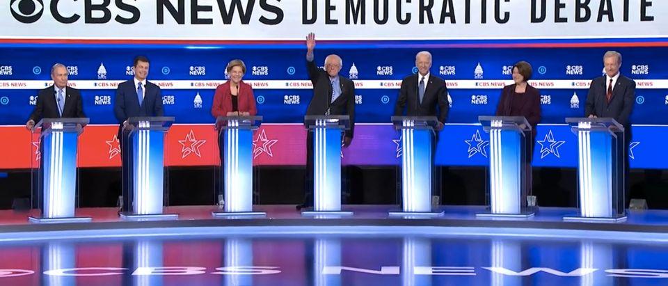 The 10th democratic debate. (Screenshot/CBS News)