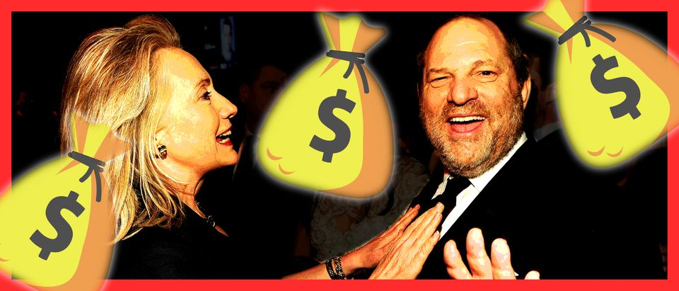 Hillary Clinton, Harvey Weinstein (Getty Images, Shutterstock, Daily Caller)