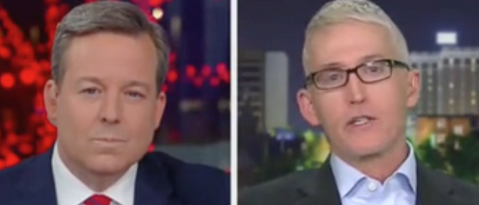 "Ed Henry speaks with Trey Gowdy on ""The Story."" Screen Shot/Fox News"