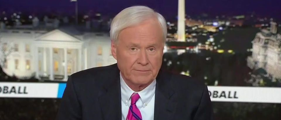 Chris Matthews apologized on-air to Sen. Bernie Sanders after comparing his campaign's success to rise of Nazi, Germany. (Screenshot MSNBC)