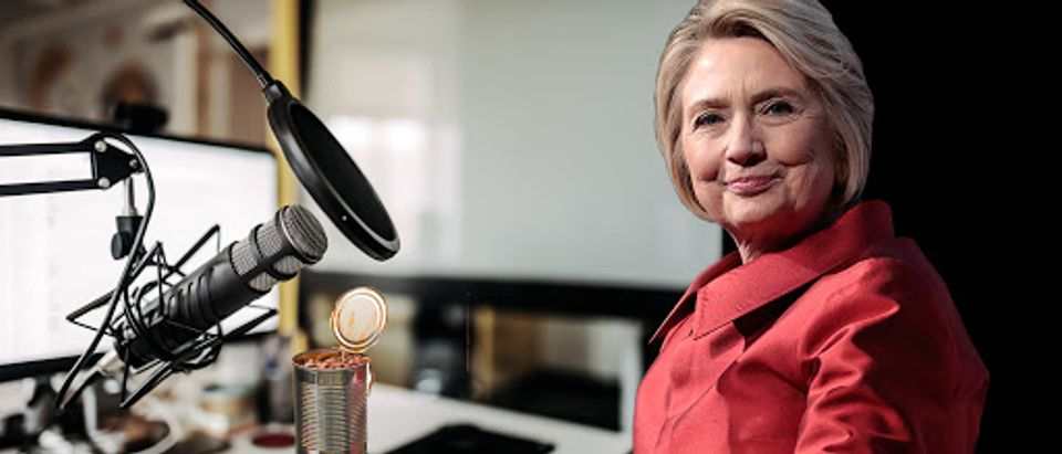 Hillary Clinton is starting a new podcast later in 2020. (The Daily Caller, Shutterstock, Getty Images)