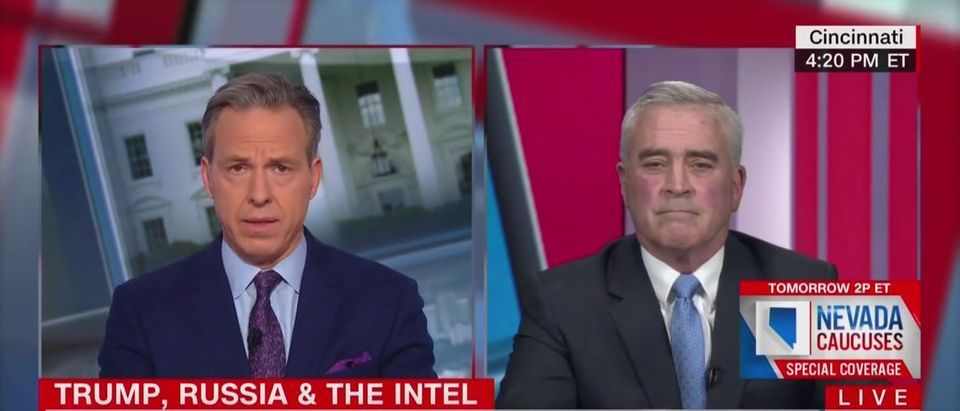 CNN's Jake Tapper failed to mention his big Twitter scoop about the ODNI story. (Screenshot CNN, The Lead With Jake Tapper)