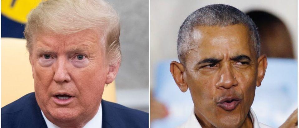 President Trump greatly beat out former President Obama in New Hampshire votes, compared to the latter's 2012 results. (SAUL LOEB/AFP via Getty Images, RHONA WISE/AFP via Getty Images)