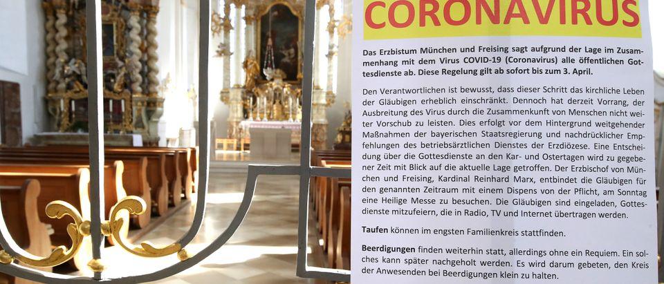 Bavaria Restricts Public Life In Effort To Stem Coronavirus Spread