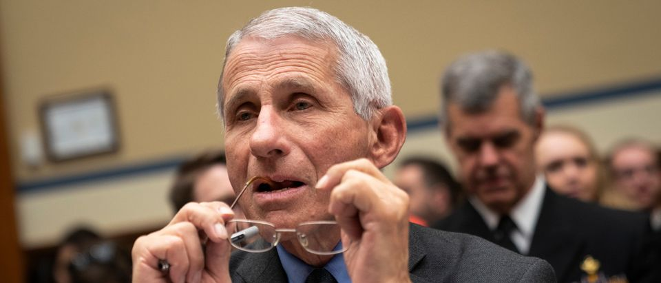 WASHINGTON, DC - MARCH 11: Dr. Anthony Fauci, director of the National Institute of Allergy and Infectious Diseases at the National Institutes of Health, testifies during a House Oversight And Reform Committee hearing concerning government preparedness and response to the coronavirus, in the Rayburn House Office Building on Capitol Hill March 11, 2020 in Washington, DC. Since December 2019, coronavirus (COVID-19) has infected more than 109,000 people and killed more than 3,800 people in 105 countries. (Photo by Drew Angerer/Getty Images)