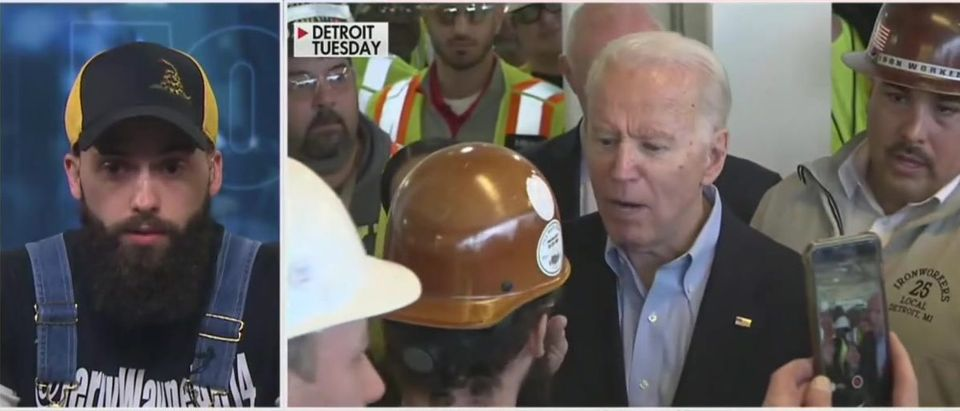Autoworker speaks out after confronting Biden (Fox News screengrab)