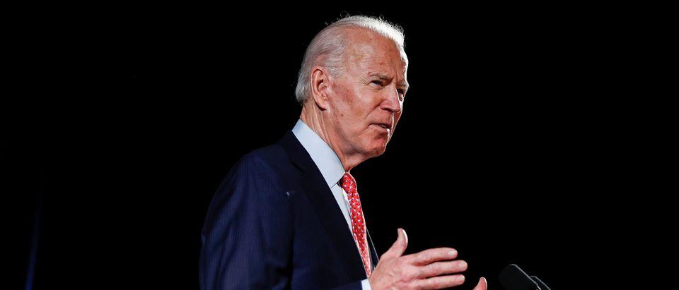 Democratic U.S. presidential candidate Joe Biden speaks about coronavirus pandemic at event in Wilmington
