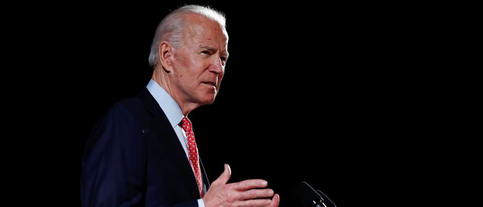 Democratic U.S. presidential candidate and former Vice President Joe Biden speaks about the COVID-19 coronavirus pandemic at an event in Wilmington