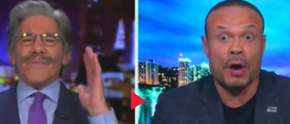 Fox News contributors Gerald Rivera (L) and Dan Bongino