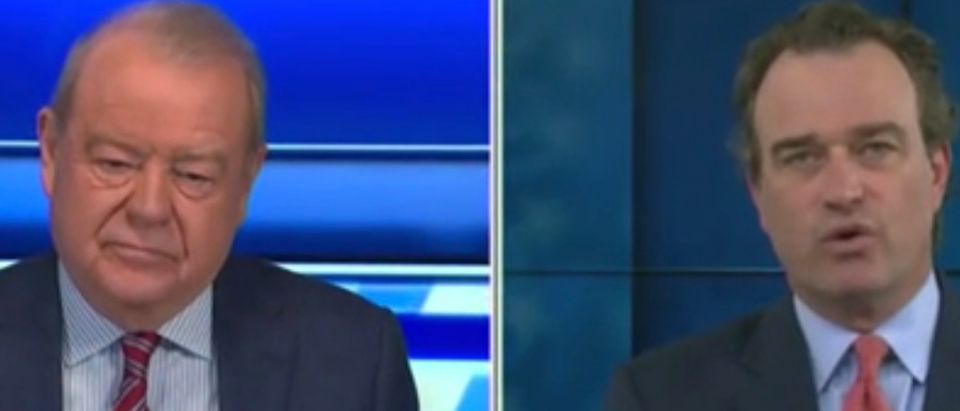Stuart Varney (L) and Charlie Hurt