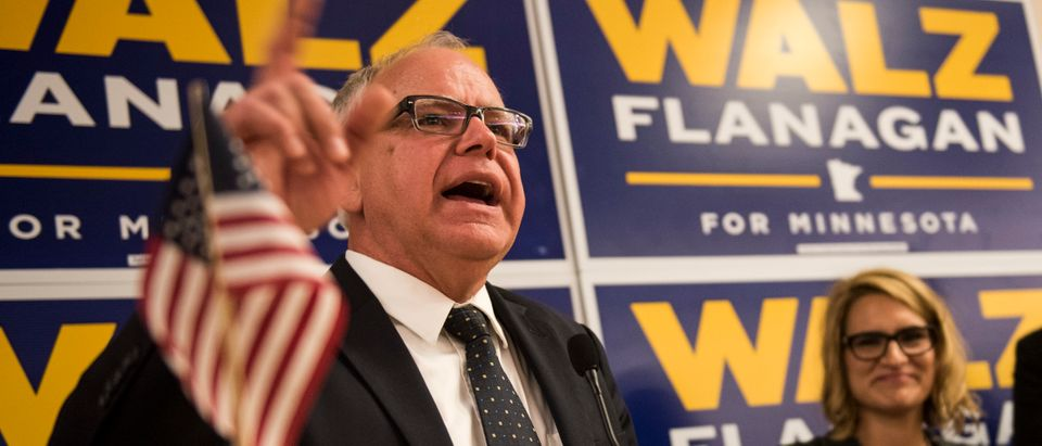 Minnesota Gubernatorial Candidate Rep. Tim Walz Holds Primary Night Event In St. Paul