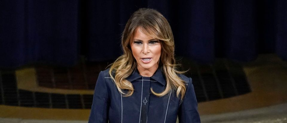 First Lady Melania Trump speaks at the National Opioid Summit at the U.S. Department of Justice on March 6, 2020 in Washington, DC. (Drew Angerer/Getty Images)
