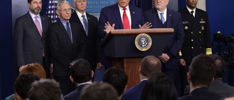 President Trump Holds News Conference On Coronavirus At The White House